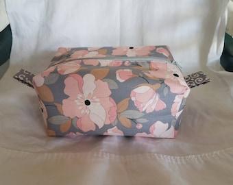 Pink & Grey Flower Bag