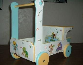 Pusher / rolling truck - handmade