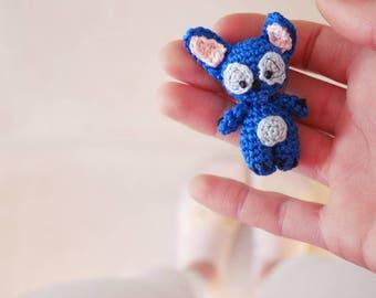 Keychain / Micro plush amigurumi Stitch