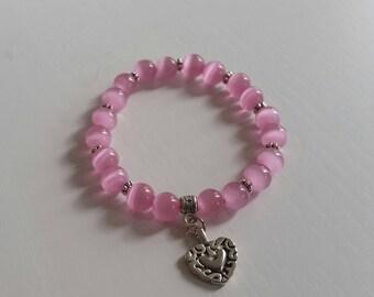 Pink Opal Bracelet (8 mm)