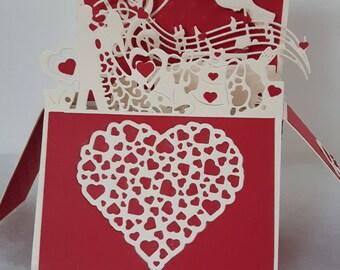 Original card pop up for wedding