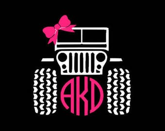 Jeep Decal - car decal - Monogram decal - Jeep monogram