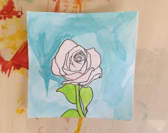 Drawing of a Rose  5 X 5
