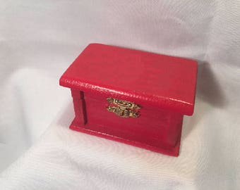 Red Badge Box, Jewelry Box, Trinket Box-Personalized Free!