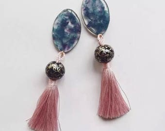 marble tassel pierce / earring