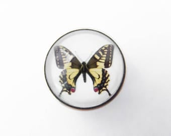 Butterfly yellow 18mm Chunk snap button