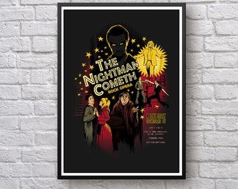 The Nightman Cometh Poster, The Nightman Cometh Wall Art Print, Charlie Kelly, It's Always Sunny in Philadelphia, Dayman Wall Art Poster