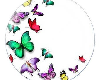 resin cabochon is 25 mm Butterfly e8 stick