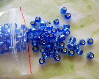 seed beads large 4 mm equivalent of 1 tube of approximately 100 beads bag