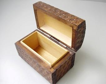 Vintage,Hungarian wood box,jewelry boy,trinket holder