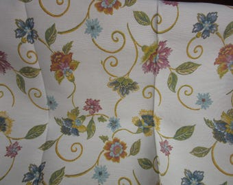 woven floral upholstery fabric * 1.05 m x 73 cm *.