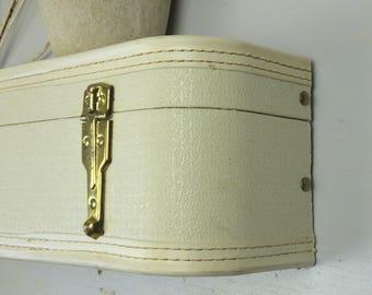 Vintage Suitcase Decorative Shelving/RE:purposed Suitcase Shelf--back half