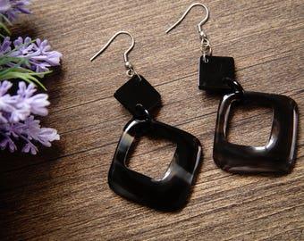 Buffalo Horn Earrings TA 25012