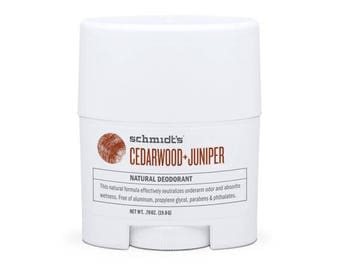 Cedarwood + Juniper Travel-Size Stick (.7 oz.) - Schmidt's Natural Deodorant
