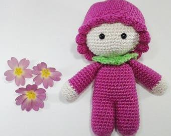 Amigurumi baby-pink cotton 14 cm