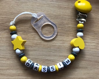 Personalized pacifier - pacifier - heart - stars
