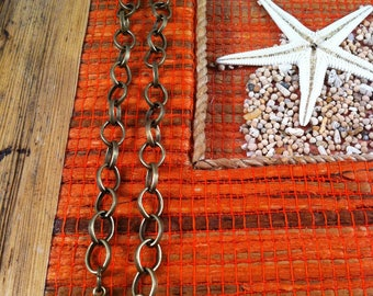 3 bracelets mesh oval smooth 19 cm, bronze creations, charms