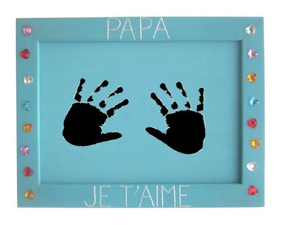 diy id e cadeau m re p re mamie papy 1 cadre photo bois 10x15 cm papa je t 39 aime. Black Bedroom Furniture Sets. Home Design Ideas