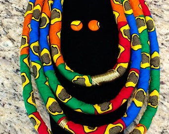 Large African Rope Necklace (Jumbo size)