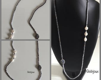 Elegant necklace with marcasite cabochon
