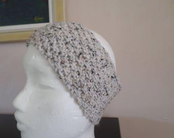 knitted headband with a fancy stitch: wheat stitch