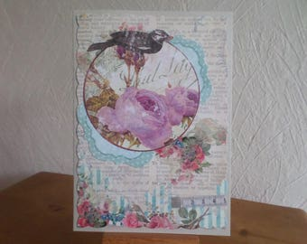 card with different collage