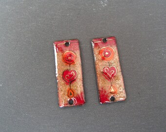 RESERVE force * enamelled copper (hot) charms connector hearts