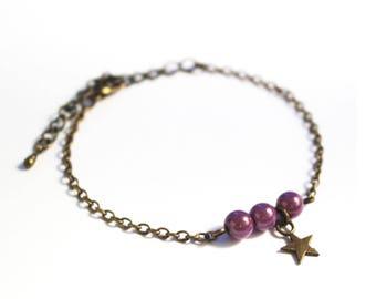Bracelet star Plum (purple) miracle beads