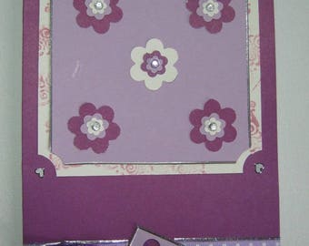 Cards, flowers and ribbons with polka dots