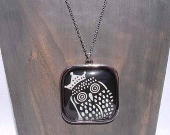 """Royal OWL"" necklace"