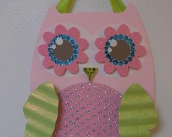 Pink Owl - Bow Hanger