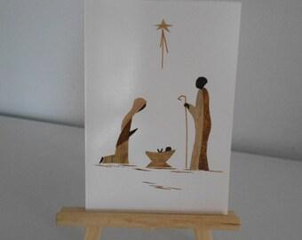 Sets of 2 large cards Christmas postcards & envelopes