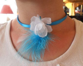 Ribbon wedding procession White Flower necklace