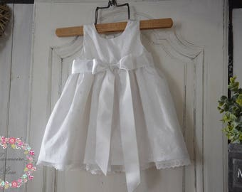 English embroidered christening gown