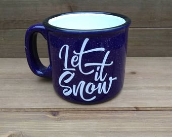 Let it Snow Campfire Mug - Winter Coffee Mug, Winter Mug, Coffee Lover Gift, Winter, Gift, Winter Decor