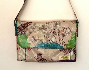A small coated kids Messenger bag