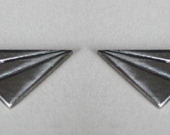 Origami plane earrings