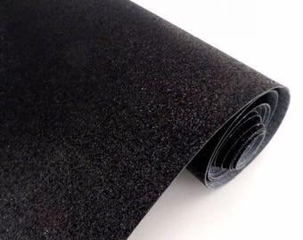 tissu/toile glitter fin noir 30/25 cm , fabrication d'accessoires, bijoux et home deco