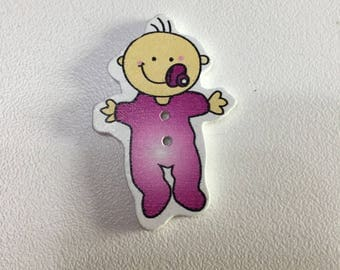 Wooden button baby model