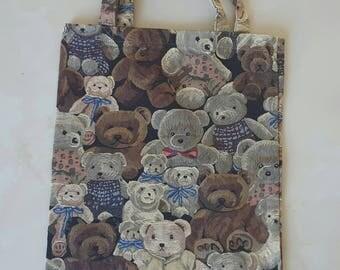 """vintage Teddy bear"" collection tote bag 32 x 42 cm"