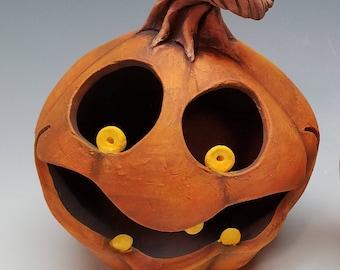 """Clay """"Wicked Jack"""" jack O'lantern"""