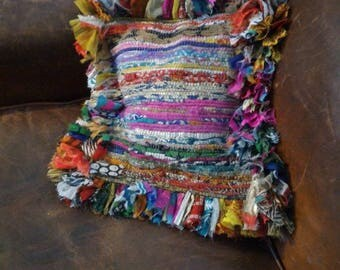 Recycled fabric pillow cover - size Small