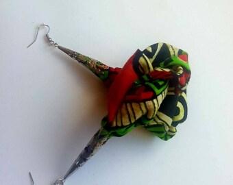 Rose Petal Inspired Earrings