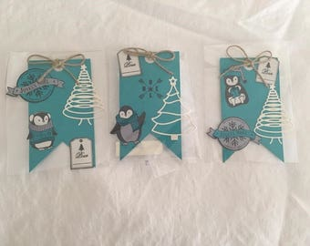 Pennant tags winter penguins