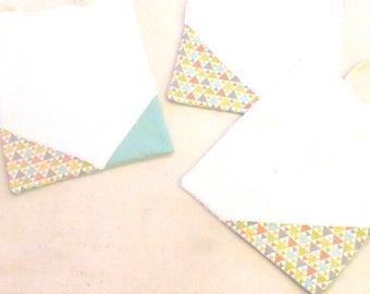 Box 3 bibs of cotton fabric and sponge - free shipping