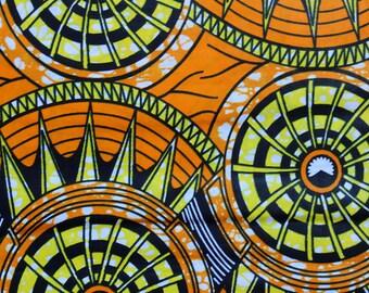Orange Wax fabric
