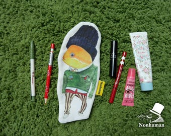Fish 1 / Pencil Case / pencil pouch / fish /  illustration / Storage bag