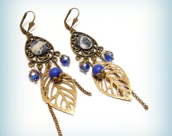 "Gypsy the ""d'Azur leaves"" earrings"