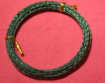 Bright green aluminum wire