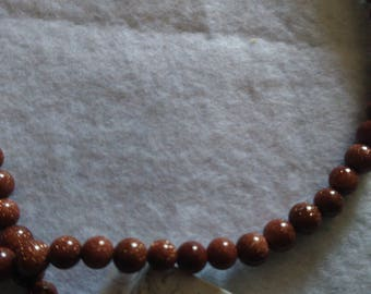 Set of 60 beads 4 mm shiny brown